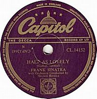 Cover Frank Sinatra - Half As Lovely (Twice As True)