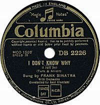 Cover Frank Sinatra - I Don't Know Why (I Just Do)