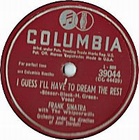 Cover Frank Sinatra - I Guess I'll Have To Dream The Rest