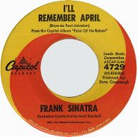Cover Frank Sinatra - I'll Remember April