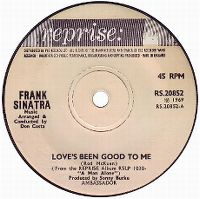 Cover Frank Sinatra - Love's Been Good To Me