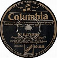Cover Frank Sinatra - My Blue Heaven