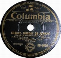 Cover Frank Sinatra - Sunday, Monday, Or Always