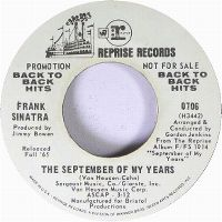 Cover Frank Sinatra - The September Of My Years