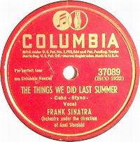 Cover Frank Sinatra - The Things We Did Last Summer