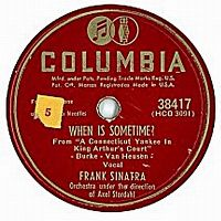 Cover Frank Sinatra - When Is Sometime?
