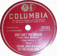 Cover Frank Sinatra - Why Can't You Behave?