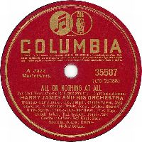 Cover Frank Sinatra / Harry James And His Orchestra - All Or Nothing At All
