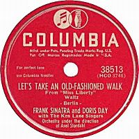 Cover Frank Sinatra and Doris Day with The Ken Lane Singers - Let's Take An Old-Fashioned Walk