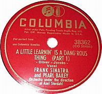 Cover Frank Sinatra & Pearl Bailey - A Little Learnin' Is A Dang'rous Thing