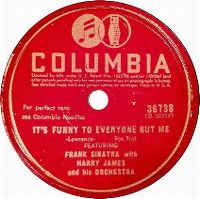 Cover Frank Sinatra with Harry James And His Orchestra - It's Funny To Everyone But Me