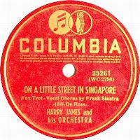 Cover Frank Sinatra with Harry James & His Orchestra - On A Little Street In Singapore