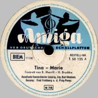 Cover Fred Frohberg & die Ping-Pongs / Kurt Henkels und das Rundfunk-Tanzorchester Leipzig - Tina-Marie