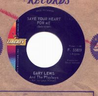 Cover Gary Lewis & The Playboys - Save Your Heart For Me