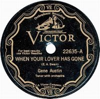 Cover Gene Austin - When Your Lover Has Gone