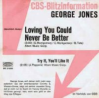 Cover George Jones - Loving You Could Never Be Better