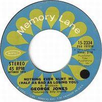 Cover George Jones - Nothing Ever Hurt Me (Half As Bad As Losing You)