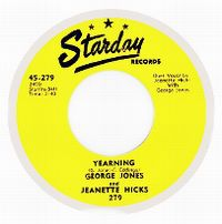 Cover George Jones & Jeanette Hicks - Yearning