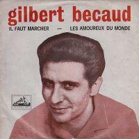 Cover Gilbert Bécaud - Il faut marcher