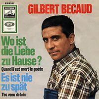 Cover Gilbert Bécaud - Wo ist die Liebe zu Hause?