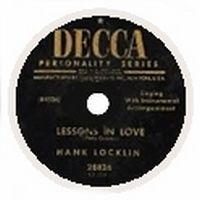 Cover Hank Locklin - Lessons In Love