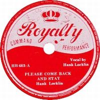 Cover Hank Locklin - Please Come Back And Stay