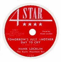 Cover Hank Locklin - Tomorrow's Just Another Day To Cry
