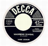 Cover Hank Locklin - Whispering Scandal
