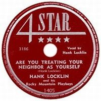 Cover Hank Locklin And His Rocky Mountain Boys - Are You Treating Your Neighbour As Yourself