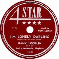 Cover Hank Locklin And His Rocky Mountain Boys - I'm Lonely Darling