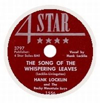 Cover Hank Locklin And His Rocky Mountain Boys - The Song Of The Whispering Leaves