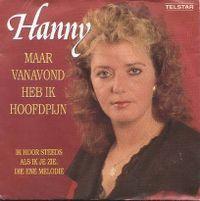 Cover Hanny - Maar vanavond heb ik hoofdpijn