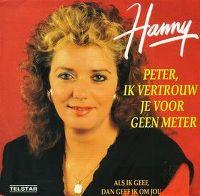 Cover Hanny - Peter, ik vertrouw je voor geen meter