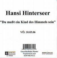 Cover Hansi Hinterseer - Du musst ein Kind des Himmels sein