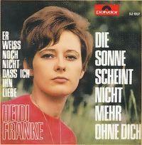 Cover Heidi Franke - Die Sonne scheint nicht mehr ohne dich