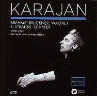 Cover Herbert von Karajan / Berliner Philharmoniker - Brahms - Bruckner - Wagner - R. Strauss - Schmidt 1970-1981
