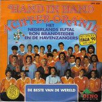 Cover Het Nederlands Elftal, Ron Brandsteder en de Havenzangers - Hand in Hand achter Oranje