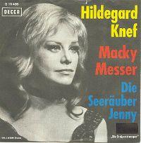 Cover Hildegard Knef - Macky Messer