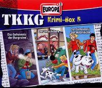 Cover Hörspiel / TKKG - Krimi-Box 5: Das Geheimnis der Burgruine / Der Unsichtbare / Das Geheimnis der Moorleiche