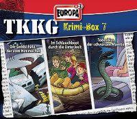 Cover Hörspiel / TKKG - Krimi-Box 7: Der Goldschatz, der vom Himmel fiel / Im Schlauchboot durch die Unterwelt / Todesbiss der schwarzen Mamba