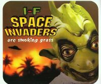 Cover I-F - Space Invaders Are Smoking Grass