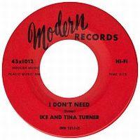 Cover Ike & Tina Turner - I Don't Need