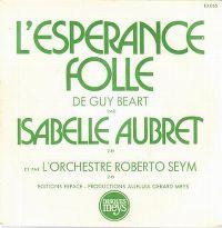 Cover Isabelle Aubret - L'espérance folle