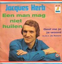 Cover Jacques Herb - Een man mag niet huilen