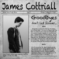 Cover James Cottriall - Goodbyes