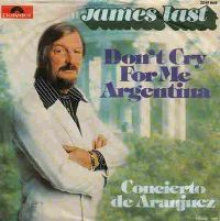 Cover James Last - Don't Cry For Me Argentina