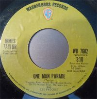 Cover James Taylor - One Man Parade
