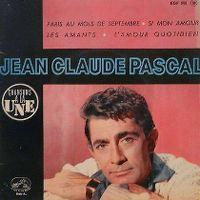 Cover Jean-Claude Pascal - Paris au mois de septembre