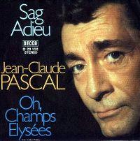 Cover Jean-Claude Pascal - Sag adieu