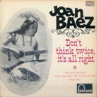 Cover Joan Baez - Don't Think Twice, It's All Right